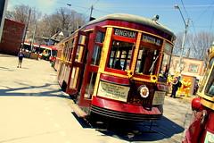 2014 Toronto Beaches Lions Easter Parade (wyliepoon) Tags: park toronto beach easter loop trolley ttc tram parade transit lions beaches lightrail streetcar lrt neville peterwitt 2014 queenstreeteast