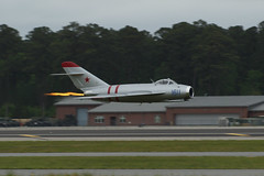 MIG-17F (History Rambler) Tags: plane vintage fighter jet northcarolina soviet russian ussr cherrypoint mig17 randyball