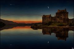 Evening silence (Lato-Pictures) Tags: castle scotland donan schottland composing eilan sunddown