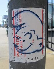 Smurfitti (TedParsnips) Tags: graffiti usps taggers sfv tagging smurfs prioritymail canogapark urbanblight peyo prioritymaillabels