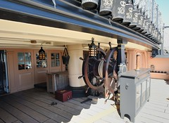 Dual helm of HMS Victory (gillybooze) Tags: wheel ship navy nelson deck portsmouth buckets lamps ropes rigging helm cannonballs hmsvictory lordnelson navalhistory allrightsreserved
