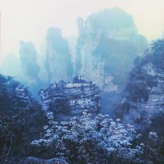 (Paul Hoi) Tags: china blue mamiya polaroid asia dream ishootfilm hunan zhangjiajie expiredfilm rz67 packfilm filmphotography instantfilm polaroidback peelfilm zhangjiajienationalforestpark mamiyapolaroidback paulhoi