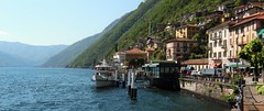 Argegno - lake Side - Lake Como Italy (Gilli8888) Tags: italy lake mountains alps ferry architecture buildings boat lakecomo lombardia lombardy ferrylanding argegno
