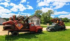 """Looking for 1, found 2- HTT (""""Jerry"""" Newman) Tags: sculpture truck roadsideattraction remains johnhimmelfarb trucksculpture"""