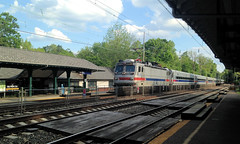 SEPTA 2304 leads a westbound express through Merion (CPShips) Tags: septa bombardier merion aem7 paolithorndaleline