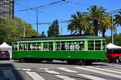 Muni F Line #1814 (Jim Strain) Tags: sanfrancisco trolley tram muni transit vehicle commuter streetcar jmstrain