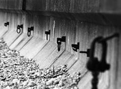 Sea Hooks (mnika4) Tags: sea blackandwhite bw white black wall contrast concrete stones pebbles seawall seafront seaton hooks desaturate
