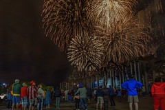 Canada Day fireworks 2016 (beyondhue) Tags: fireworks ottawa gatineau canada day 2016 national gallery people watching sussex maman spider sculpture art public celebration beyondhue night