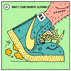 4-whats your favorite clothing item (jeremy pettis) Tags: art illustration portland design sketch drawing or illustrated great jeremy nike doodle milwaukee interview wi answers thangs questionnaire pettis fantastiq jeremypettis