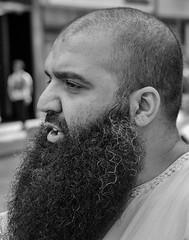 A fine beard (Nikonsnapper) Tags: man beard candid muslim olympus curly unposed zuiko 45mm omd em1
