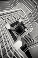 Into the Dark  #LosAngeles #TheGetty #GettyCenter #Architecture #Stairs #Lookdown #BlackAndWhite #Museum #Urban #UrbanExplorer #Urbex #California #Symmetry (kallyone) Tags: california urban blackandwhite museum architecture stairs losangeles symmetry lookdown gettycenter urbex thegetty urbanexplorer