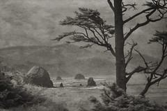 Ecola State Park 2 (Sonlight Landscape Photography) Tags: alankepler beach cannon canon coast coastline ecolastatepark formation haystackrock infrared landscape nature ocean oregon outdoor park rock rocks sand scenery scenic sea seascape sonlightlandscapephotography tourism tourist travel vacation view water waves