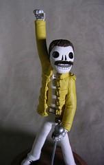 Day of the Dead Freddie Mercury (claylindo) Tags: sculpture dayofthedead skeleton miniature doll queen polymerclay rockabilly diadelosmuertos figurine