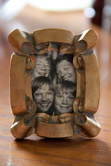 Knick nack (53wc wk15) (Hoffenbrau Studios) Tags: family blackandwhite photobooth time picture 1983 photoofaphoto nicknack knicknack cheep500dvs5dmarkiii prettygoodhighisofornotbeingamarkiii