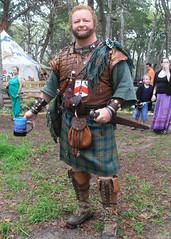Highlander  -  Sherwood Forest Faire 2012 (Flagman00) Tags: kilt tx highlander sherwoodforestfairerenaissancefairemcdade