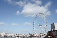 London eye (Asmaa Aldousari) Tags: blue sky white london eye love weather heart kuwait