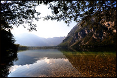 Lake Bohinj is open (tia_maria) Tags: tiamaria slovenia lakebohinj lakebohinjisopen thedrivetodubrovnikthatgotasfarasriejka theysayofahirecardriveitlikeyoustoleitandsowedid