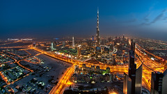 The Veins Of Dubai #12 (DanielKHC) Tags: blue roof tower night mall high nikon long exposure dubai dusk top uae khalifa hour index burj d300 bonanniversaire nikkor105mmfisheye danielcheong millebisous danielkhc happybirthdaytoyoudaniel