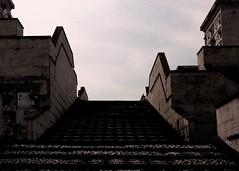 nothing, nowhere, no one (Detonation Boulevard) Tags: flowers sky italy scale graveyard stairs italia graves cielo fiori tombe cimitero laspezia boschetti