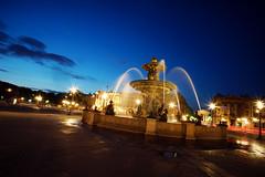 Place de la concorde (Spacewil) Tags: sunset paris fountain place 7 concorde nex