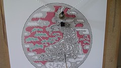 Manhole cover (Euphy) Tags: art robot drawing machine pixel plotter arduino polargraph