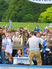 Torch on the stage at North Inch (P&KC Archive) Tags: sport fun photography scotland community perthshire streetscene celebration 20thcentury relay olympicflame torchrelay localhistory olympictorch torchbearers historicevent civicpride perthandkinross ecsochistory recordinghistory