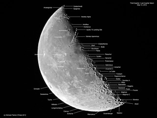 Third Quarter / Last Quarter Moon (Labeled) - May 13, 2012