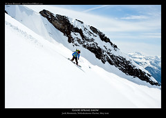 Easy cruising (Jason Hummel Photography) Tags: snow ski snowboarding washington skiing may northface 2012 northcascades jackmountain northcascadesnationalpark rosslake kylemiller splitboarding nohokomeen nohokomeenglacier nohokomeenheadwall