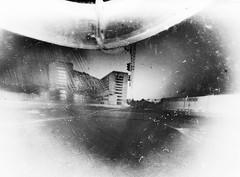 Evening on Karaliaus Mindaugo avenue (batuda) Tags: street wideangle pinhole d76 6x9 cardboardbox kaunas akropolis glassplate