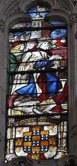 Burgos (Catedral). Capilla de los Condestables. Vidriera. Det. 2 (santi abella) Tags: catedral burgos vidrieras