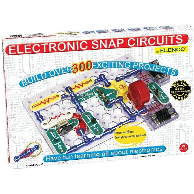 六一儿童节礼物:Elenco Snap Circuits 单元电路模组 SC-300,电子电路搭建类游戏