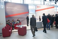 Deutsche Bahn stand attracting delegates