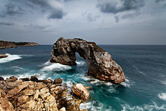 Es Pontas rock, Ses Salines, Mallorca (Samuel Berthelot) Tags: ocean longexposure sea seascape clouds canon spain rocks ses filter lee nd 5d mallorca 1740 rochers majorca salines majorque balares