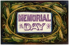 Memorial Day (Alan Mays) Tags: old newyorkcity ny newyork black green yellow vintage paper typography gold corn holidays antique ovals ears ephemera postcards type fonts printed borders memorialday 1908 memorials 1900s typefaces a30 decorationday westerhouse postcardpublishers hcwesterhouse