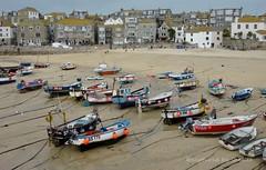 St Ives, Cornwall (flyingkiwigirl) Tags: uk england boats fishing cornwall village landsend stives mousehole cornish dinghies
