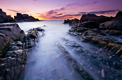 Fort Williams (moe chen) Tags: ocean park sea lighthouse seascape color water clouds sunrise portland landscape dawn nikon rocks long exposure elizabeth williams state fort head maine cape d800