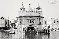 Shri Harmandir Sahib [Golden Temple] [B&W] (Sandeep Uppal) Tags: b bw india white black canon religious temple 50mm golden god w 14 religion sikh sahib gurdwara punjab amritsar gurudwara sikhism waheguru shri khalsa harmandir satnam khanda sarowar t2i