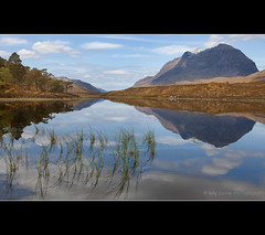 Liathach (Billy Currie) Tags: mountain lake reflection water scotland ross highlands still sandstone walk hill peaceful peak traverse calm glen ridge og torridon munro wester liathach