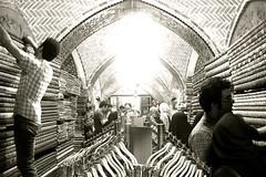 Tehran Bazar   -    (Parisa Yazdanjoo) Tags: tehran seller bazar  termeh tehranbazar traditionalcloth     iraniantraditionalart
