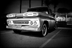 1961 Chevrolet Pick-up Truck (greenthumb_38) Tags: blackandwhite bw truck blackwhite pickup pickuptruck grill processing duotone grille headlamp process processed 1740mm 1961 headlamps frontend tuned stepside canonef1740mmf4l 1961chevy canon40d jeffreybass 1961chevrolettruck