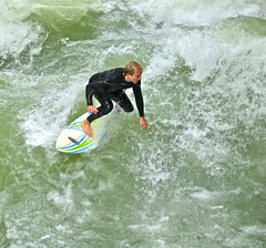 Surfing Downtown Munich