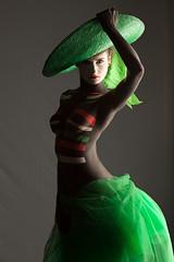 Green, White and Red (Compa84) Tags: italy sexy girl hat model italia bodypaint cappello mora 24105 solferino modella compagnoni 5dmk2 5dmark2