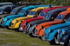 Colorful line up (Explored) (Roberto Braam) Tags: auto old classic colors dutch car mobile vintage french photo nikon europa europe image picture thenetherlands ak meeting citron voiture line explore deux 2cv oldtimer van capture ente eend besteleend inte