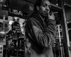 Philadelphia, 2014 (Alan Barr) Tags: street people blackandwhite bw philadelphia monochrome mono blackwhite candid streetphotography sp streetphoto gr ricoh 2014