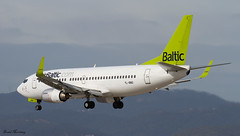 Air Baltic 737-300 YL-BBO (birrlad) Tags: barcelona airplane airport spain aircraft aviation air airplanes bcn baltic landing finals airline boeing arrival airways approach airlines runway airliner 737 arriving 737300 25r 73733v ylbbo
