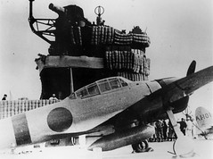 An A6M-2 Zero fighter aboard the Imperial Japanese Navy carrier Akagi during the Pearl Harbor attack mission