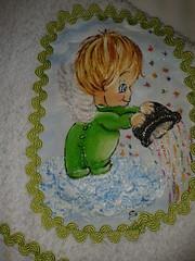 Toalha de Boca Pintado - Anjinho G001 (SaluArts) Tags: de infantil bebê toalha nuvem boca pintura paninho fralda fraldinha enxoval