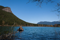(L to R) Rattlesnake Ledge, Mount Si  and Mount Teneriffe. (Brendinni) Tags: blue trees sky lake mountains water washington watershed forests mountsi rattlesnakeledge rattlesnakelake mountteneriffe