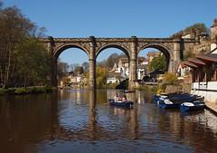 2016_04_0267 (petermit2) Tags: river boat yorkshire railway viaduct knaresborough northyorkshire rowingboat grainger rivernidd thomasgrainger