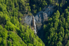 Wasserfall (olijaeger) Tags: travel trees mountain green nature water colors rock forest landscape austria waterfall dornbirn spring natur grau aerial fels karren aerialphotography frhling vorarlberg reute luftaufnahmen luftaufnahmenbodensee